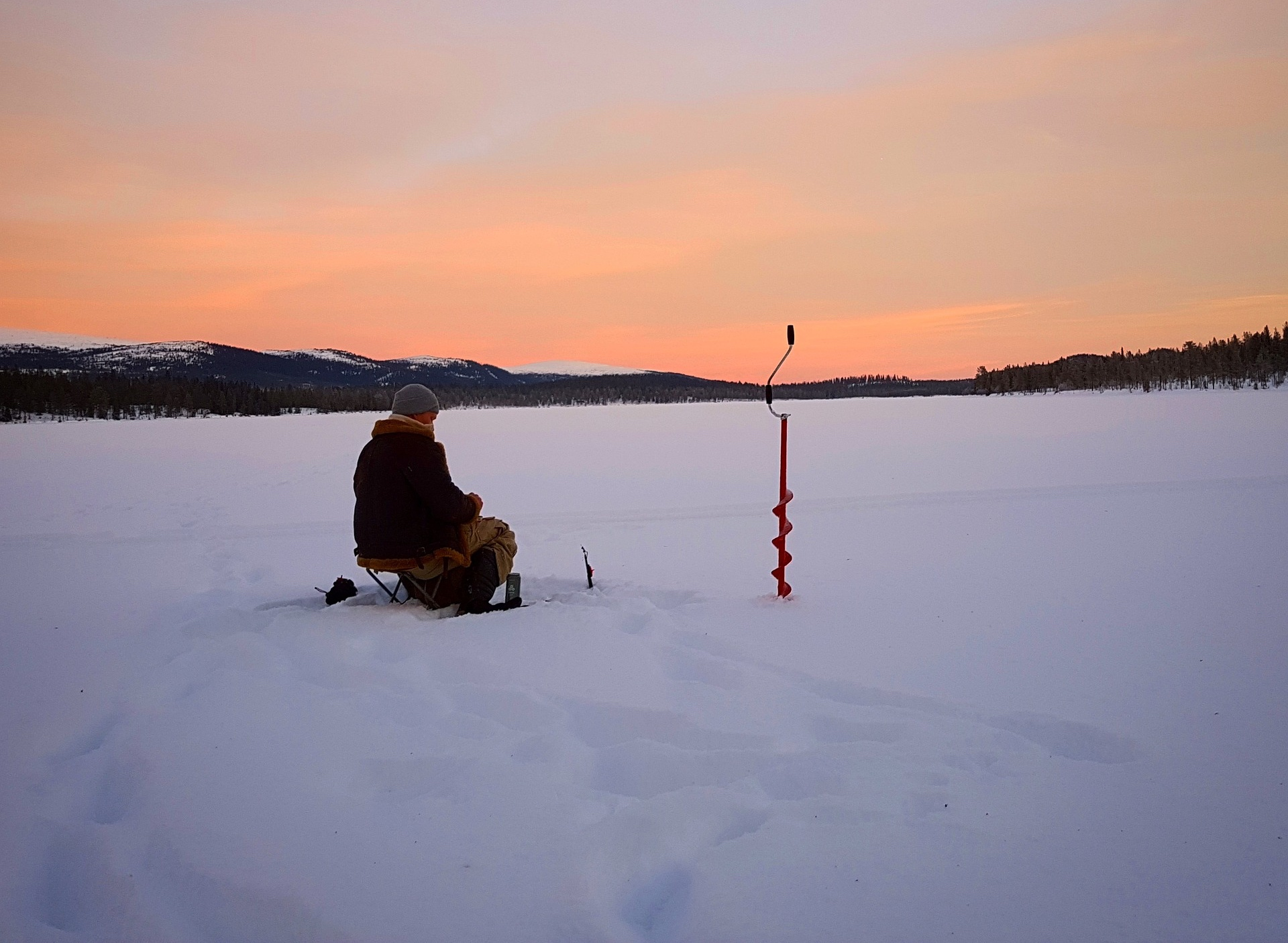 ice fishing - ways to get outside in winter