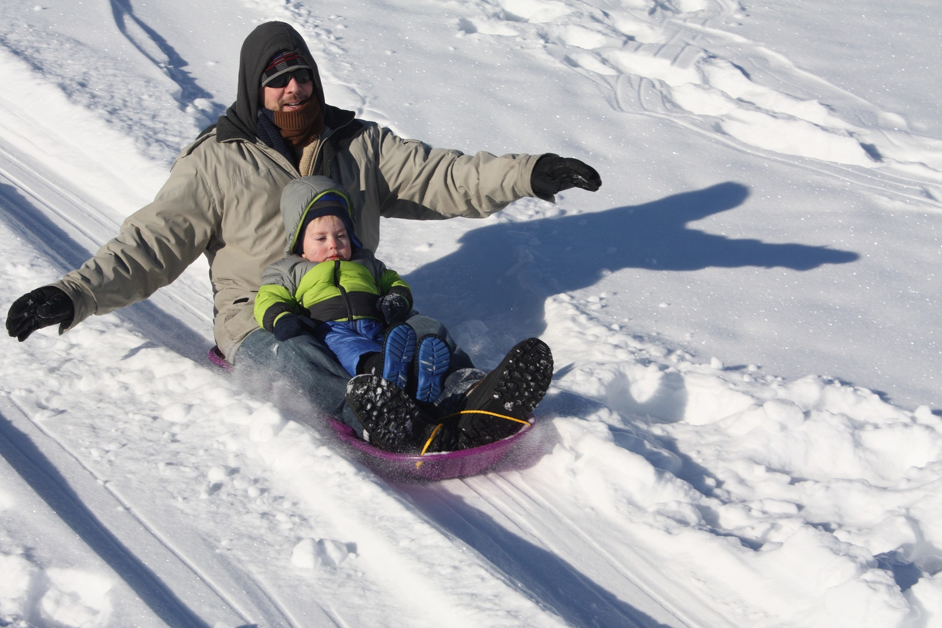 sledding - ways to beat the cold